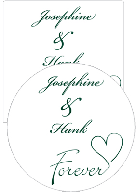 Forever Swirly Wedding Coasters
