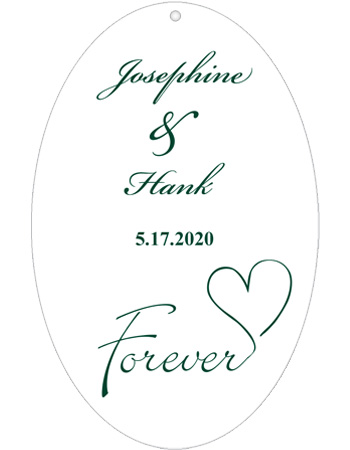 Forever Swirly Wedding Hang Tag