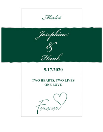 Forever Swirly Wine Wedding Labels