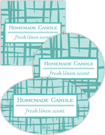 Fresh Linen Candle Labels