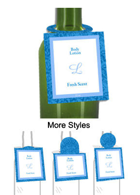 Fresh Scent Body Lotion Bottle Tags