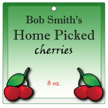 Fruit Blossom Food and Craft Hang Tags