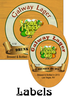Galway Lager Saint Patricks Day  labels