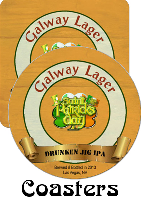 Galway Lager Saint Patrick Day Coasters