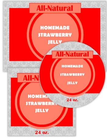 Geometric Canning Label