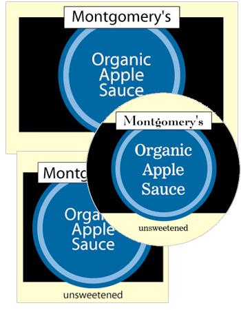 Geometric Food and Craft label