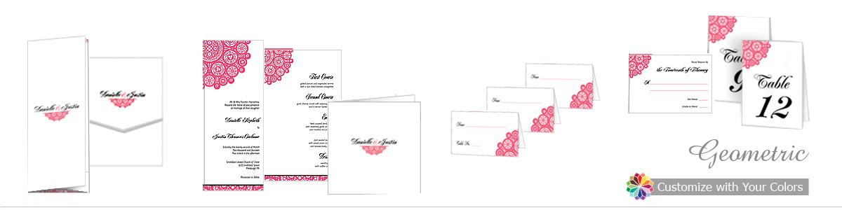 Bold Geometric Wedding Invitations
