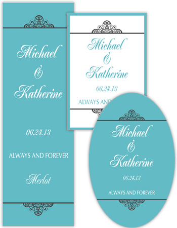 Glamorous Wedding Labels