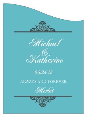 Glamorous Wine Wedding Labels