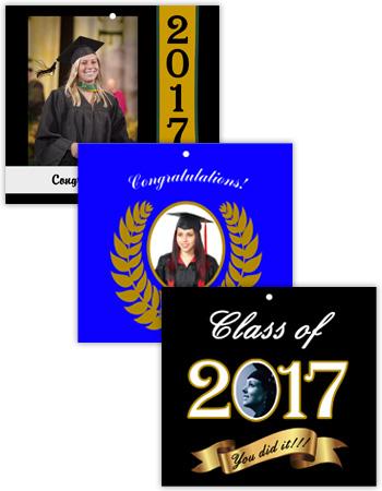 Horizontal Rectangle Graduation Hang Tag