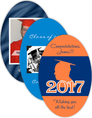 Graduation Vertical Oval Labels