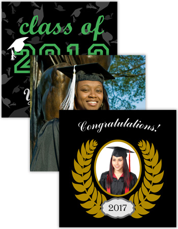 Graduation Square Labels