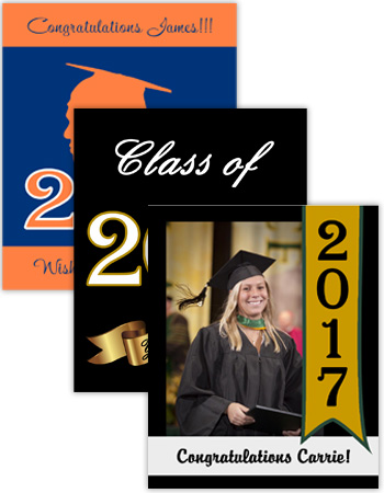 Graduation Vertical Rectangle Labels