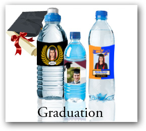 Water Bottle Labels for High School and College Graduation Party