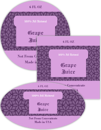 Grape Canning Labels