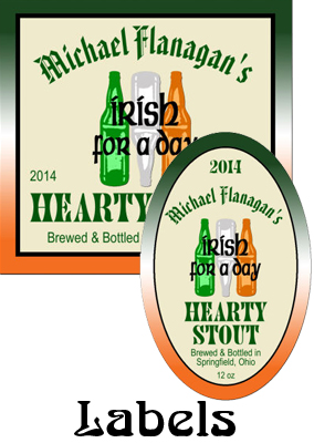 Green Ale Labels