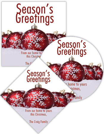 Group Ornaments Christmas Labels