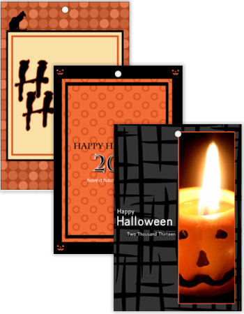 Vertical Rectangle Halloween Hang Tag