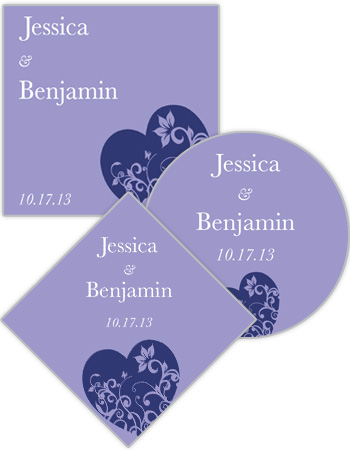 Hearts of Love Wedding Labels