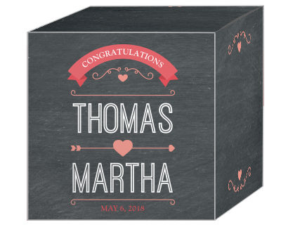 Hearts of Love Chalkboard Style Favor Boxes