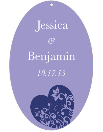 Hearts of Love Wedding Hang Tag