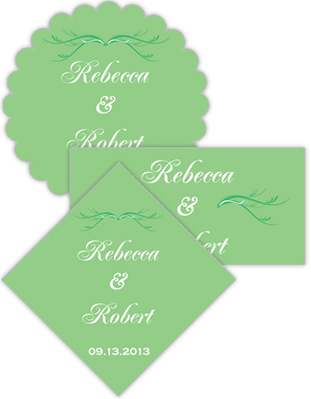 Honeymoon Waves Wedding Labels
