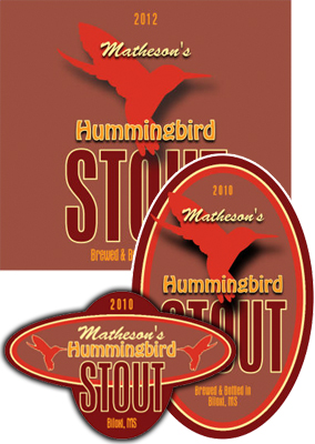 Humming Bird Beer Labels