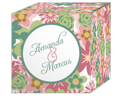 Infinity Floral Wreath Favor Boxes