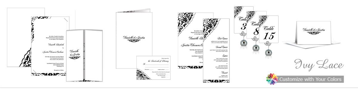 Ivy Lace Wedding Invitations