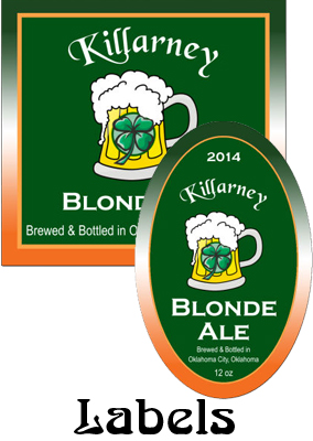 Killarney Ale Saint Patrick Day Labels