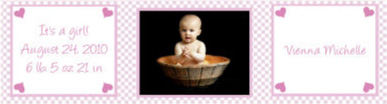 Water Little Love Baby Labels 7x1.875