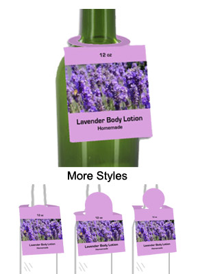 Lavender Body Lotion Bottle Tags