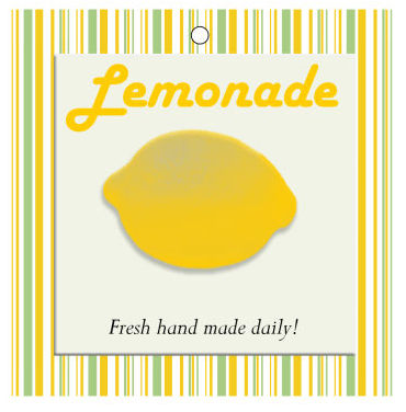 Lemonade Food and Craft Hang Tags