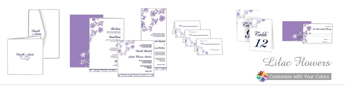 Lilac Flowers Wedding Invitations