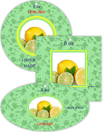 Lime Canning Favor Tag