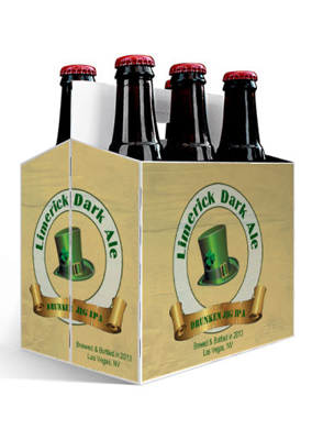 Limerick Dark Ale St. Patricks Day Six Pack Carriers