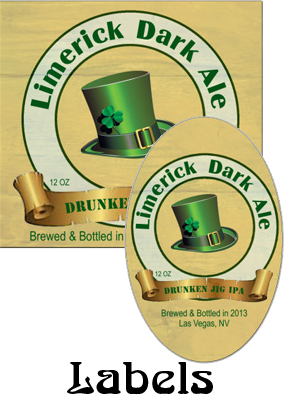 Limerick Dark Ale Saint Patricks Day  labels