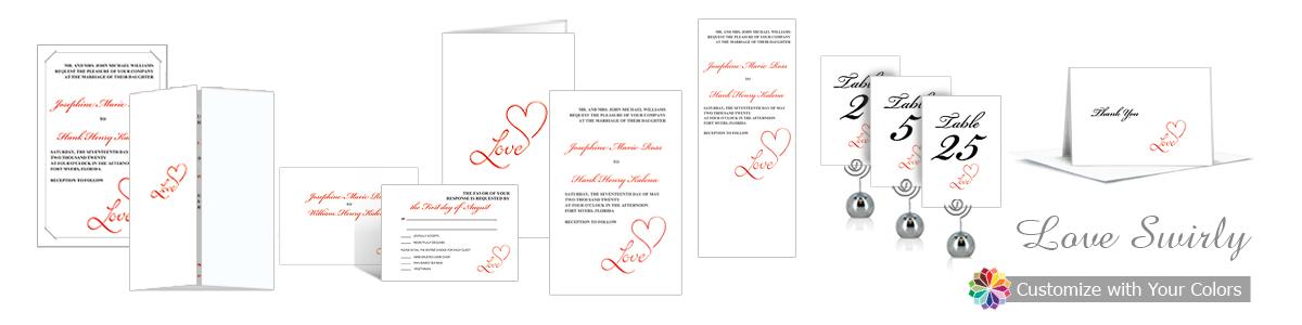 Love Swirly Wedding Invitation