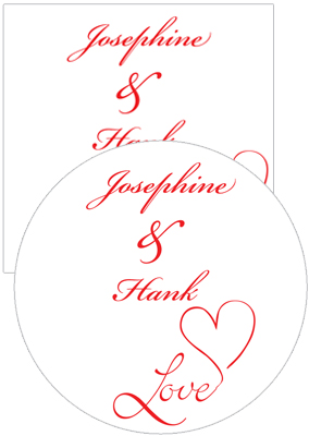 Love Swirly Wedding Coasters