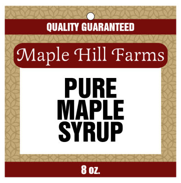 Original Country Maple Syrup Hang Tags