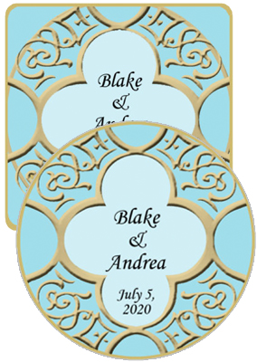 Medici Wedding Coasters