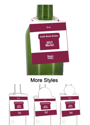Merlot Wine Bottle Tags