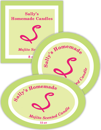Mojito Candle Labels