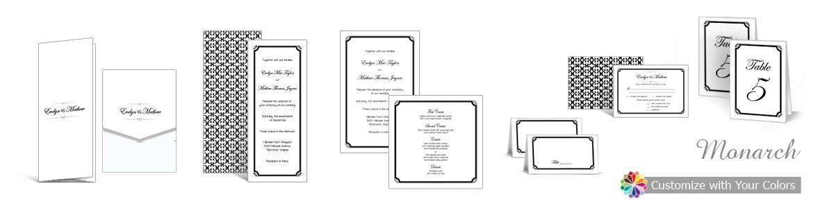 Monarch Wedding Invitations