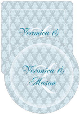 Monograms Wedding Coasters
