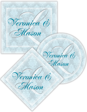 Monogram Wedding Labels