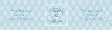 Monogram Water Wedding Labels