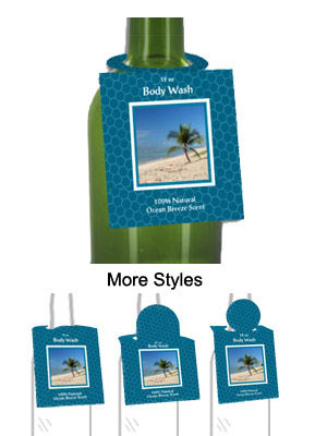 Ocean Breeze Body Wash Bottle Tags