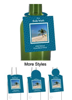 Ocean Breeze Body Wash Bottle Tags