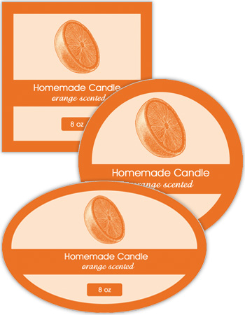 Orange Candle Labels